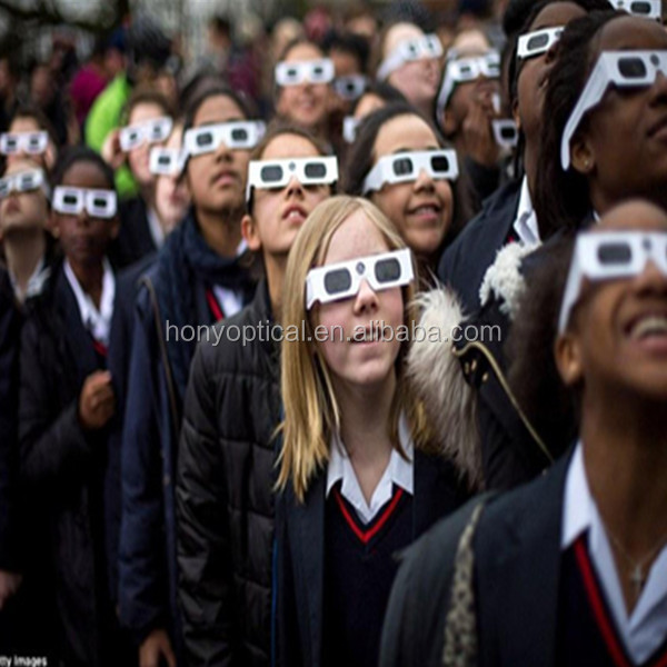 Solar Eclipse Glasses Shades - Latest Technology - Safety Lenses - White Cardboard