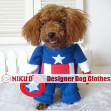 2016 New design hot sale Halloween Captain American costume cosplay costume for pet dog clothes