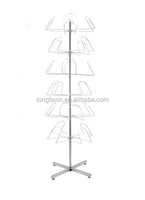 "Floor Standing Hat Rack - Powder Coat Finish, 6 Tier 64"" H X 21"" Overall Dimension: 64""H x 21"" Dia."