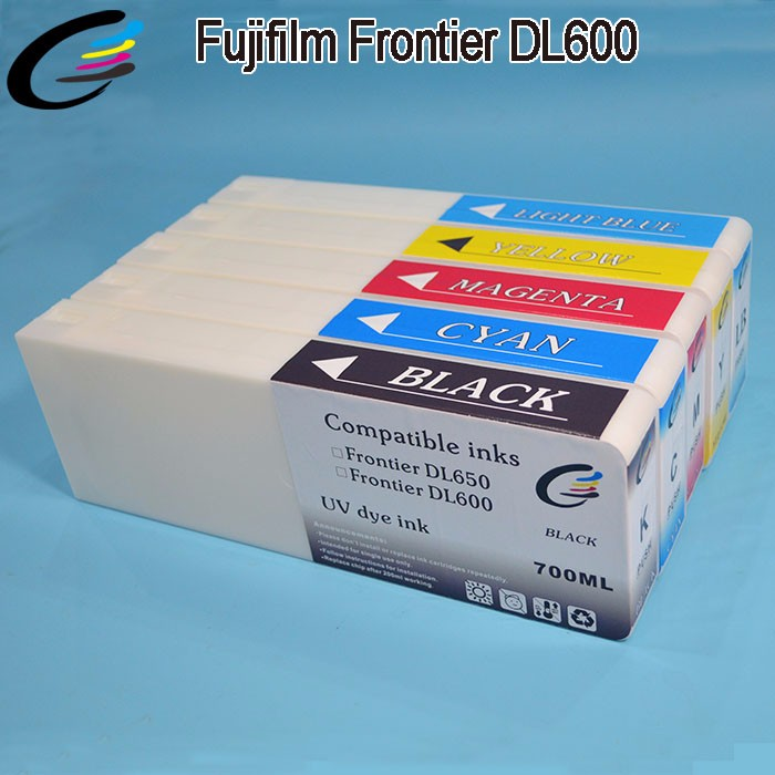 New Products Compatible Fuji DL600 Ink Cartridges with chip 700ml