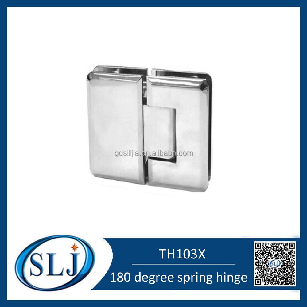 180 degree adjustable brass spring bathroom door hinge for 180 hinge door