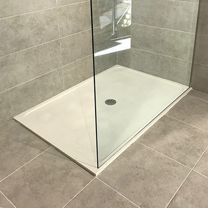 China cultured marble shower pan 28 x 48 round square rectangle prices