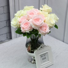 Flowerking brand household decoration fabric wedding flower wholesale cheap artificial roses decoration artificial flowers