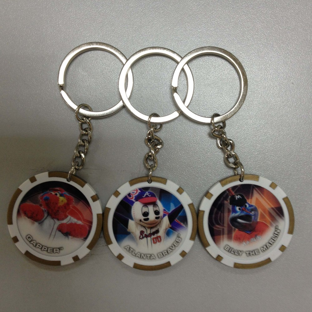 cheapest souvenir keychain,polish sticker with poker chip keyrings,key chains gifts