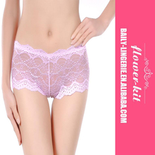 Sexy See-through Women Pink Lace Panty Wholesale