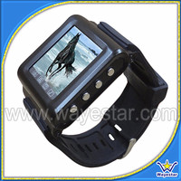 Low Cost 1.44 inch GSM TriBand Touch Wrist Mobile Phone with Bluetooth