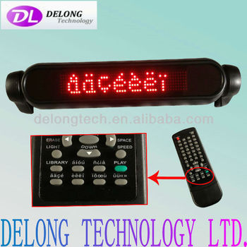 CE cheap price electronic programmable 43*10*7cm 7X50pixel indoor dot matrix French and Spanish led car sign