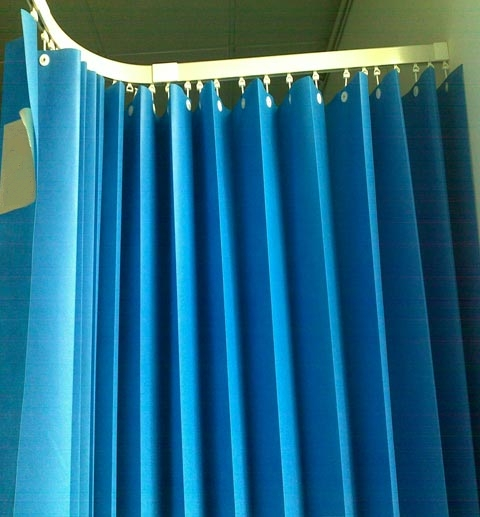 100% PP Hospital Ward Bed Curtain Disposable Drapes One Time Disposable Medical Blue Curtain Customized Size