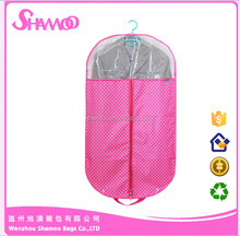 Candy Color 210D Polyester garment bags / suit cover /dress cover for storage