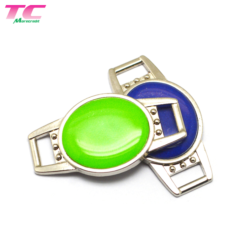 Blank Shoe Lace Charms Plates For Runners Sneaker,  Wholesale Metal Shoelace Tag With Custom Logo