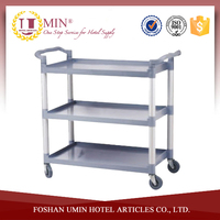 Plastic Food Service Cart with Wheels