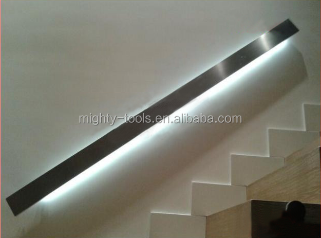 high quality stainless steel LED induction light handrail