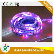 5050 rgb dream color 8806 digital led strip for clothes white/black PCB board
