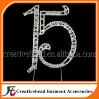 NUMBER CAKE TOPPER 1 15 16 18 21 30 40 50 60 70 for Birthday, Anniversary, Quinceanera, Sweet Sixteen, and Special Event