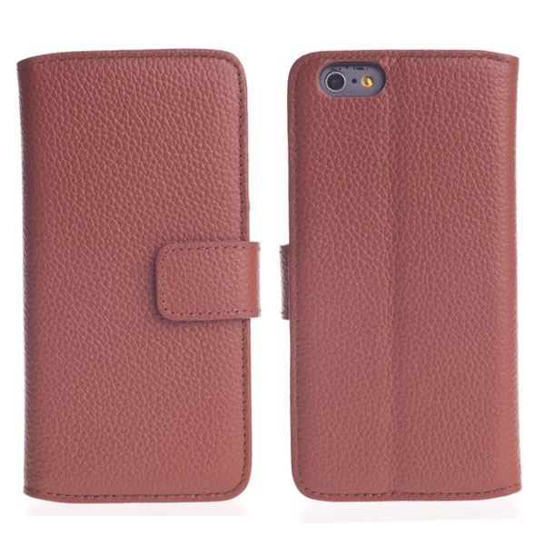 Genuine Leather Mobile Phone Wallet Case for iPhone 6S