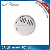 9v battery operated wholesale optical stand alone smoke detector with manual test function