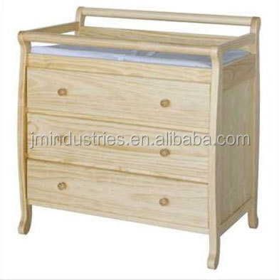 european styled luxury solid wooden baby changing table