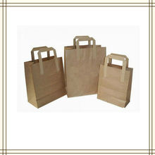 Recycled Paper Grocery Bags with Flat Paper Handle