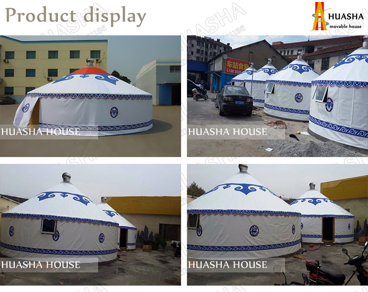Outdoor waterproof inflatable camping yurt tent for sale