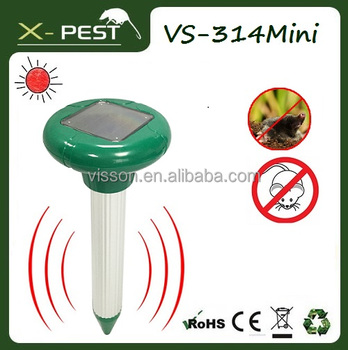 X-pest VS-314 Mini 100% Solar Powered Ultrasonic Mole Repeller Repel Mole, Voles, Mice, Gopher and Rats