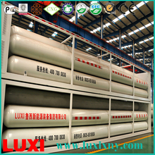 9 tube cng bundle container 25Mpa cng tube trailer gas fuel tanks , car cng cylinders