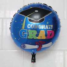 18inch graduation Doctorial hat balloons for birthday party supplies Aluminum ballons