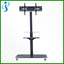 movable tv trolley / tv cart stand with four swivel casters wheels