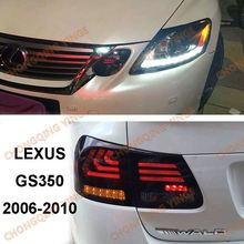 For Lexus for GS300 GS350 GS430 GS450 2006-2011 Taillights Smoke Black Red Color