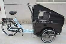 2015 hot bicycle for cargo/steel frame family cargo bicycle for adults and children