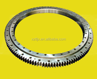 External gear single row four-point contact ball slewing bearing for towe crane