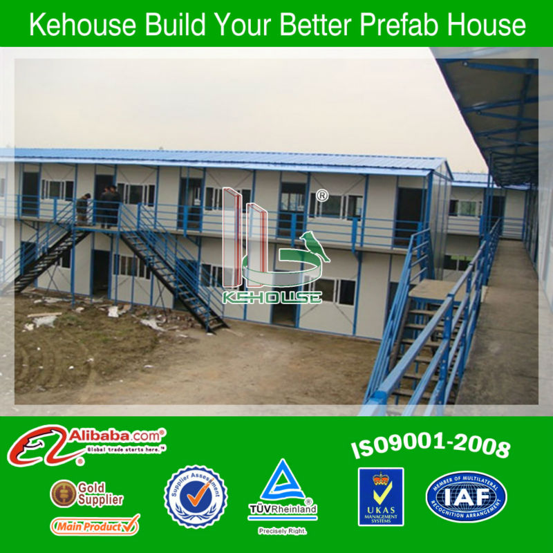 water and fire proof low cost prefabricated light steel structure modular house/home