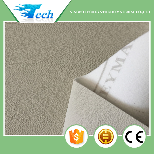 Embossed knitted pu upper leather cover material