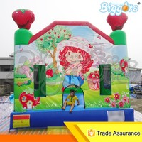 Free Shipping By Air Kid's Toys 4M*4M*3M Mini Inflatable Bouncer Castle For Sale