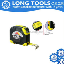 Plastic shell digital electric laser level tape measure with led light