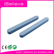 2016 iBelieve High Quality straight sponge custom printed mini nail file for uneven nail surface