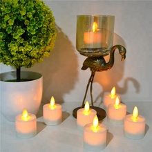 ivory electric tea light small battery operated led light candles decor
