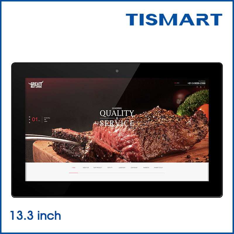 High quality 13 inch pc tablet with fingerprint reader for pos system