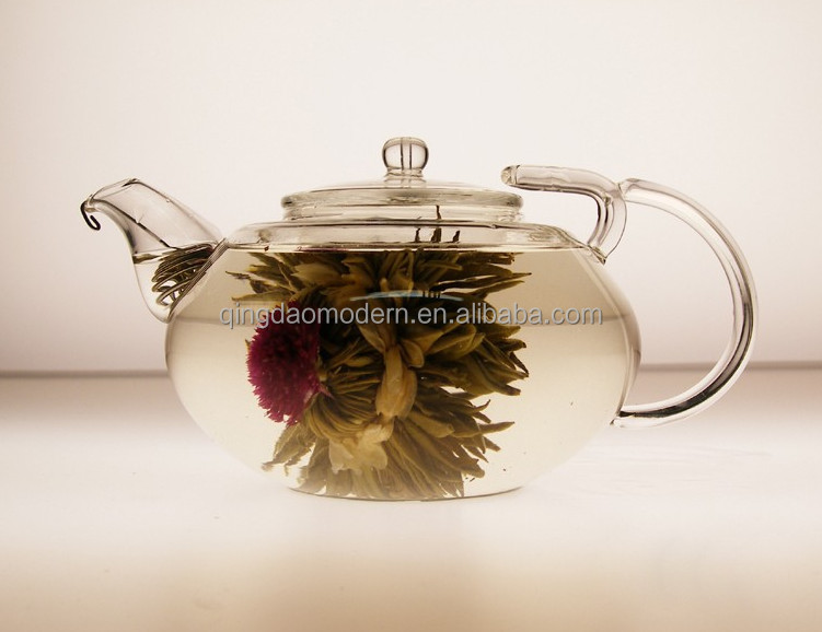 Small wholesale blooming tea glass teapots for sale