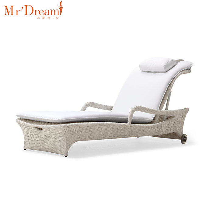 Mr Dream Comfortable Outdoor Beach Chaise Lounge Adjustable Armrest Lounge  Chair With Wheel   Buy Armrest Lounge Chair,Outdoor Beach Chaise ...