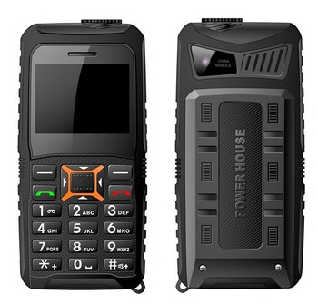 2015 New 2.4 inch powerbank phone with mobile phone charger rugged mobile phone