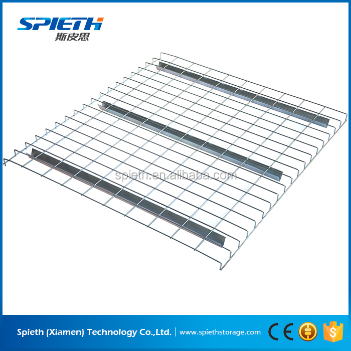 zinc finished steel mesh shelf wire mesh deck for pallet rack