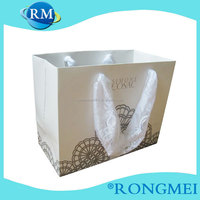 cheap white cardboard paper bags with lace drawstring