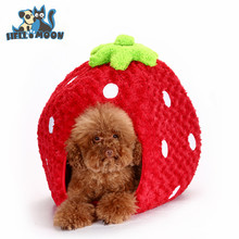 Factory Direct New plush Cute Cartoon Pet Bed Strawberry