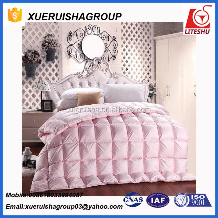 Wholesale Super White Down Comforter Duvet Insert Striped Damask Cotton