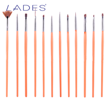 LADES 12 pcs Professional Nail Art Brushes 2017 New Design Manicure Tool Makeup Brush Sets