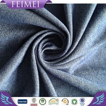 Rayon/Viscose polyester Spandex knit denim fabric