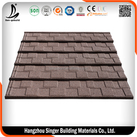 China Factory Shingle Tile Stone Coated Colored Metal Roofing Sheet