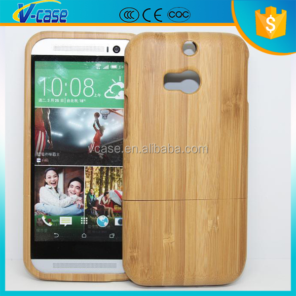 Unique Handmade Natural Wood Wooden Hard bamboo cell phone Case Cover For HTC One m8