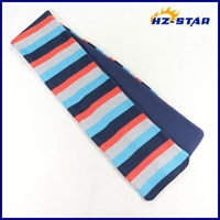 HZW-13119003 Acrylic and fabric stripe multicolour most popular fashion heated cute striped cable knit scarf pattern