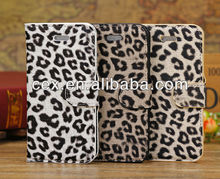 Cool Leopard Pattern Stand Leather Wallet flip Case Cover Purse For iPhone 5C